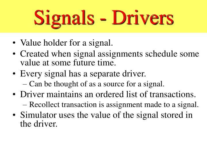 Signals - Drivers