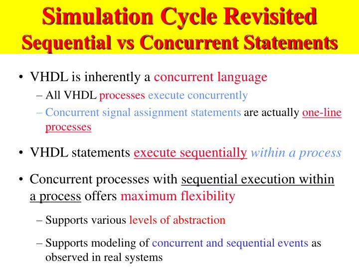 Simulation Cycle Revisited
