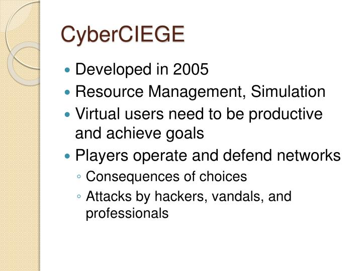CyberCIEGE