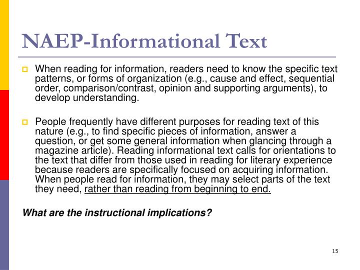 NAEP-Informational Text