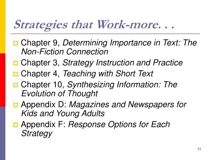 Strategies that Work-more. . .