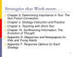 strategies that work more