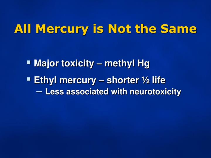 All Mercury is Not the Same