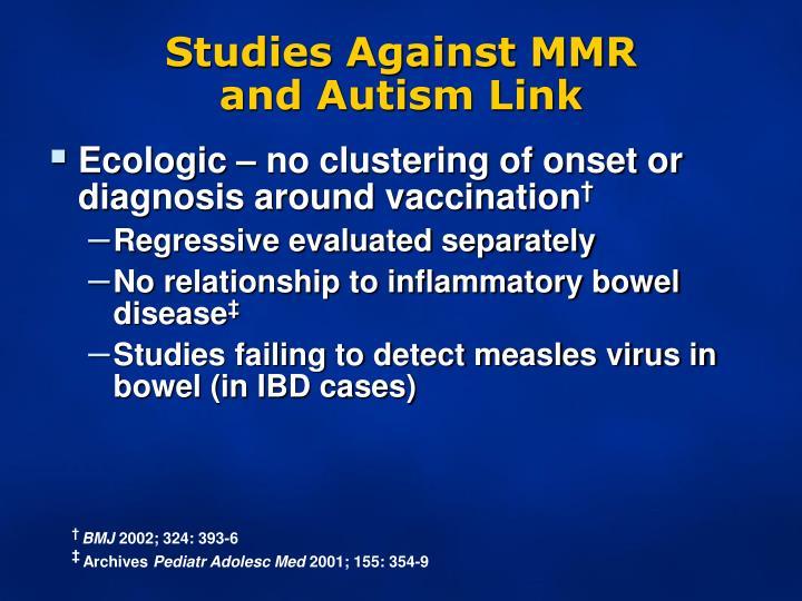 Studies Against MMR