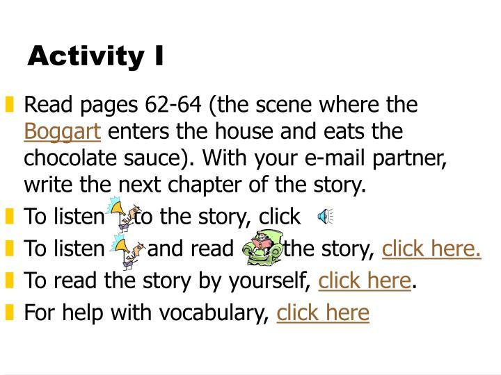 Activity I