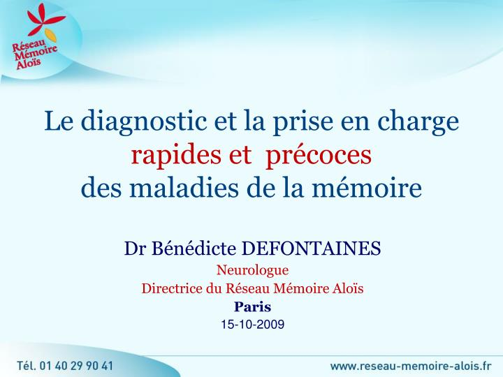 Le diagnostic et la prise en charge