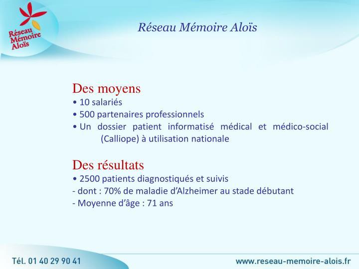 Réseau Mémoire Aloïs