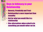 keys to intimacy in your relationship