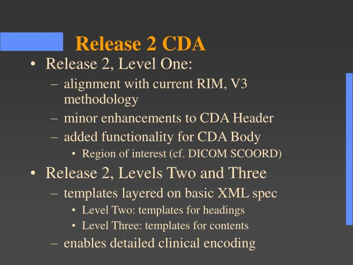 Release 2, Level One: