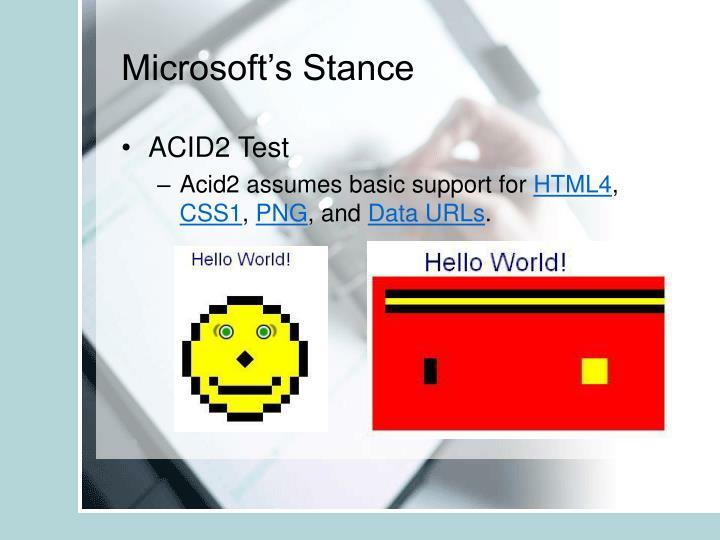 Microsoft's Stance