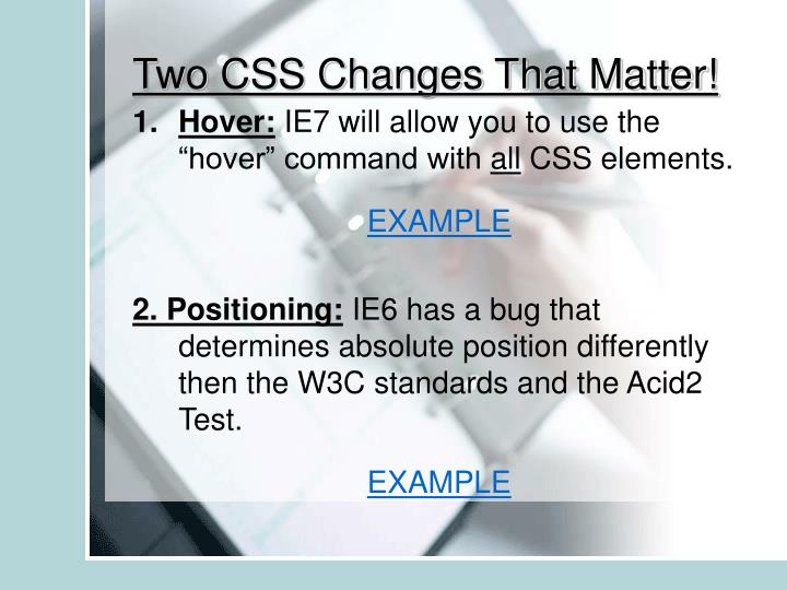 Two CSS Changes That Matter!