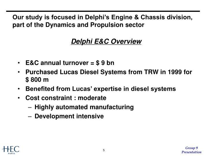 Delphi E&C Overview