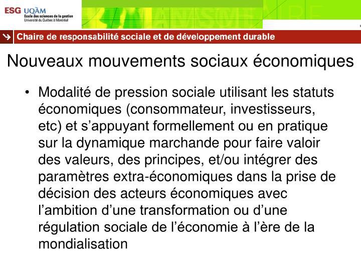 Nouveaux mouvements sociaux économiques