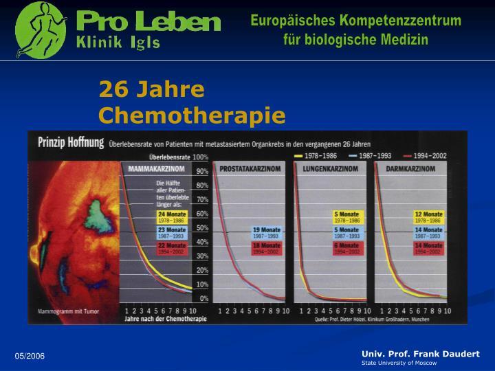 26 Jahre Chemotherapie