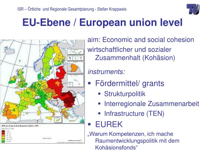 Eu ebene european union level