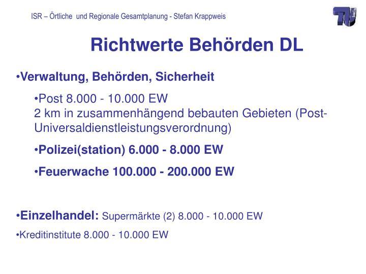 Richtwerte Behörden DL