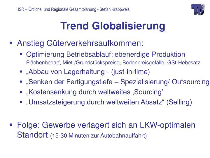 Trend Globalisierung
