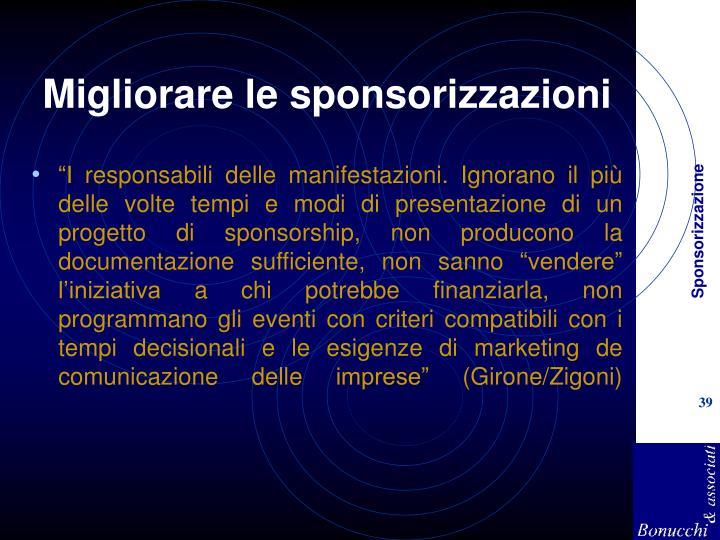 Migliorare le sponsorizzazioni