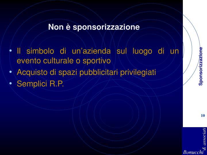 Non è sponsorizzazione