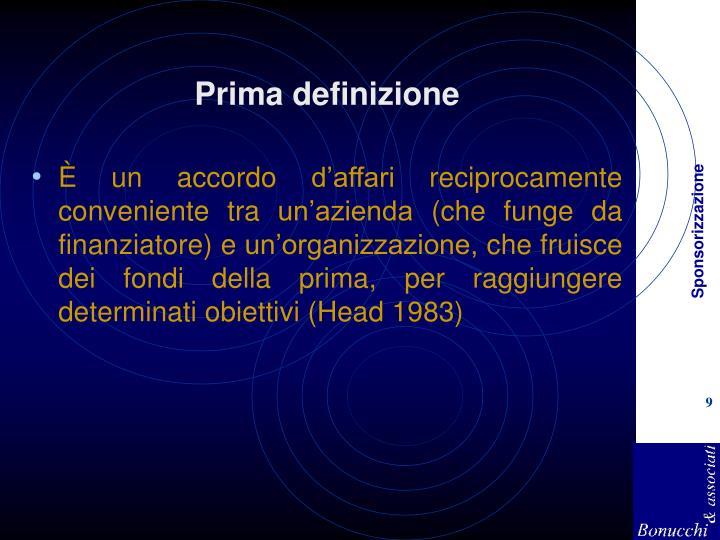 Prima definizione