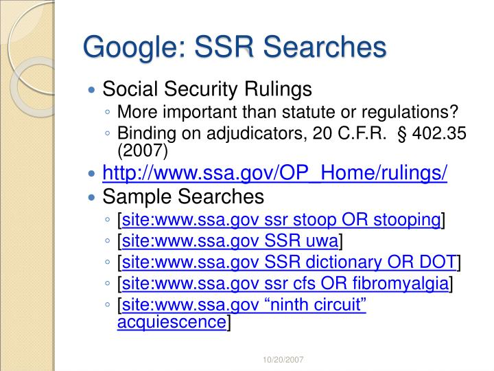 Google: SSR Searches
