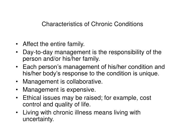 Characteristics of Chronic Conditions
