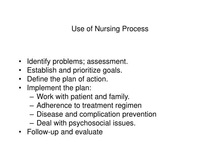 Use of Nursing Process