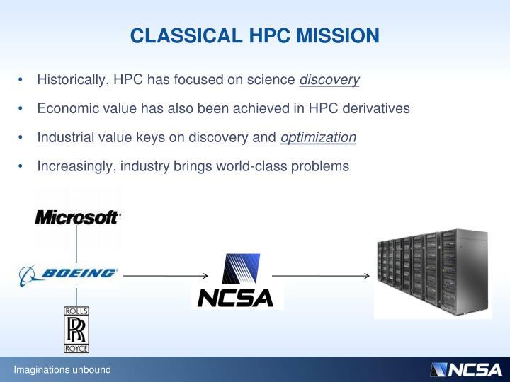 CLASSICAL HPC MISSION