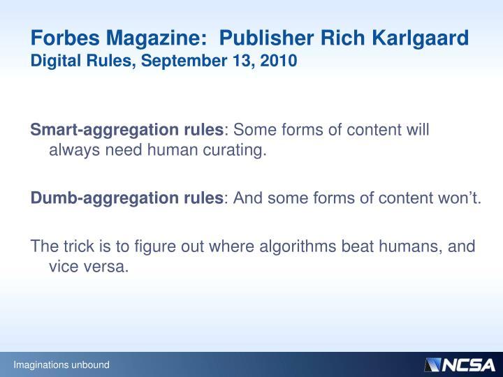 Forbes Magazine: