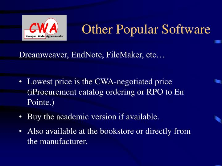 Other Popular Software