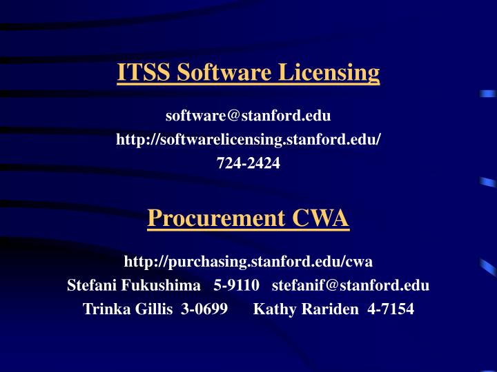 ITSS Software Licensing