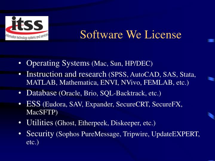 Software We License