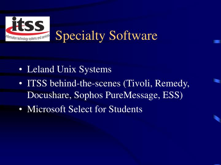 Specialty Software