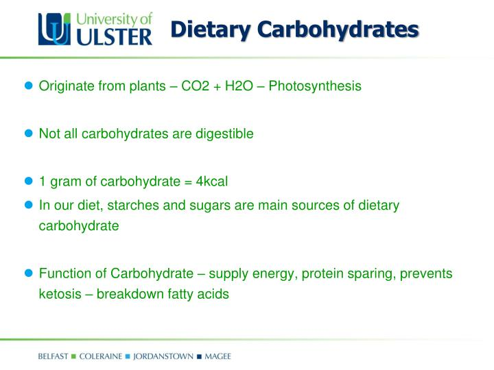 Dietary Carbohydrates