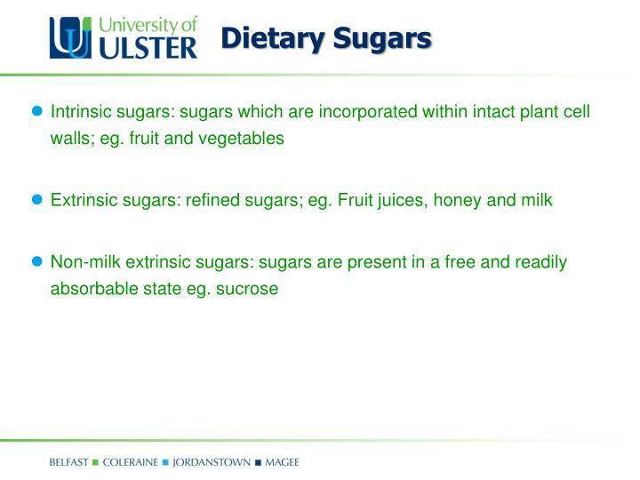 Dietary Sugars