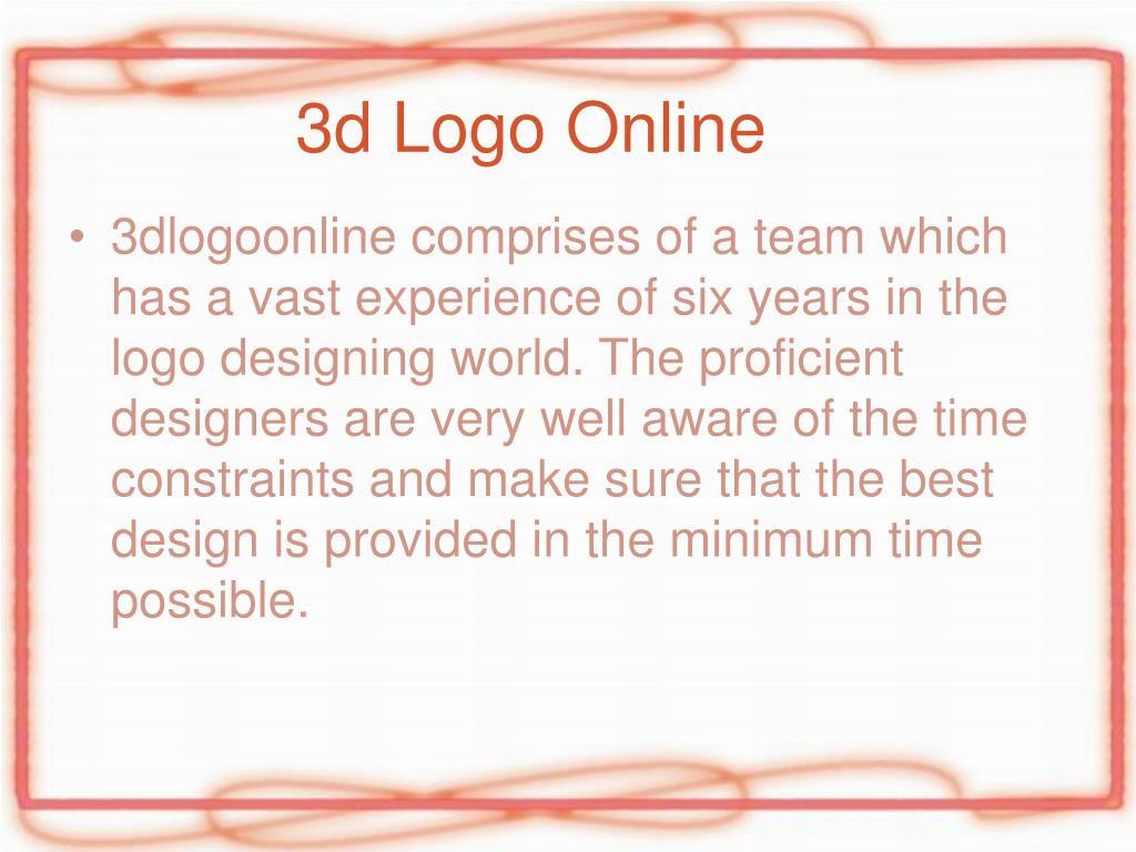 3d Logo Online