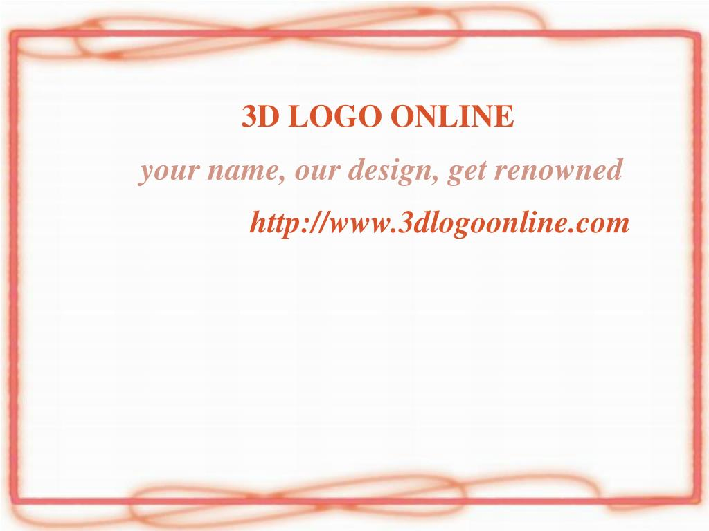 3d logo online your name our design get renowned http www 3dlogoonline com