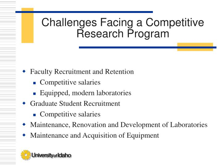 Challenges Facing a Competitive Research Program