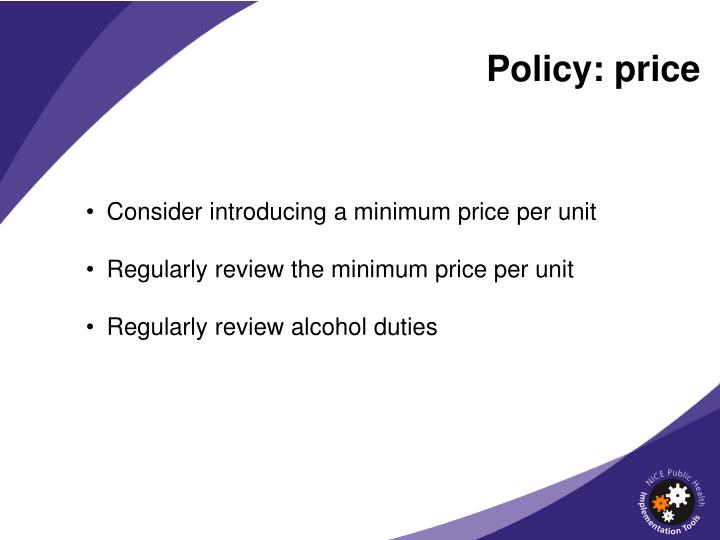 Policy: price