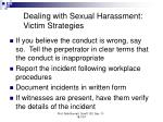 dealing with sexual harassment victim strategies