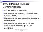 sexual harassment as communication