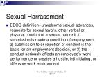 sexual harrassment
