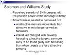 solomon and williams study