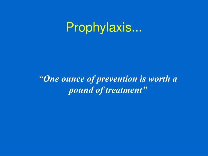 Prophylaxis...