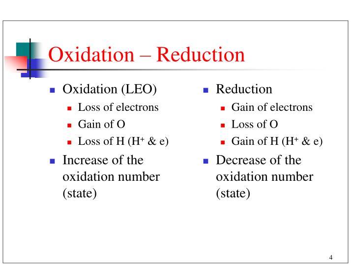 Oxidation (LEO)