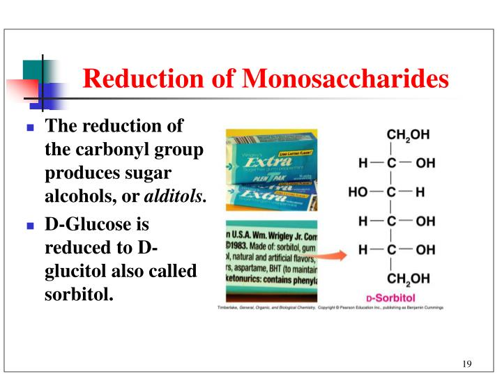 Reduction of Monosaccharides