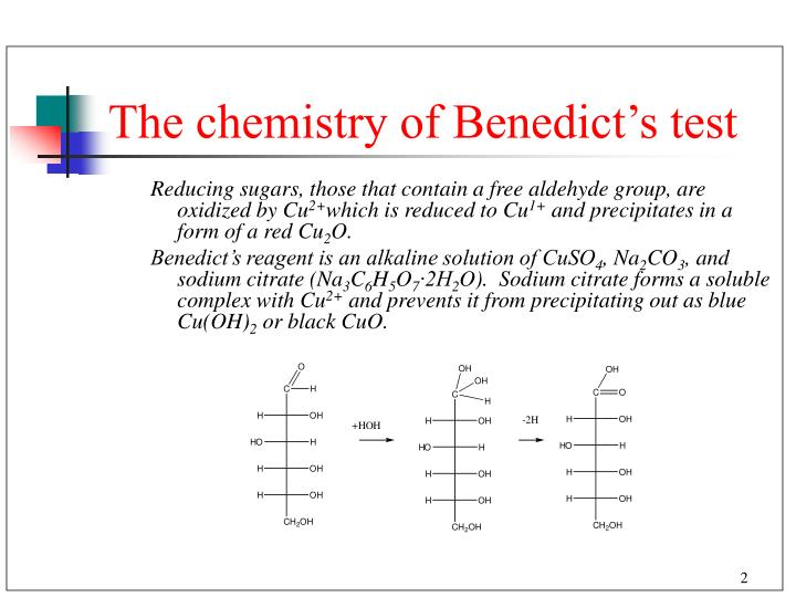 The chemistry of benedict s test