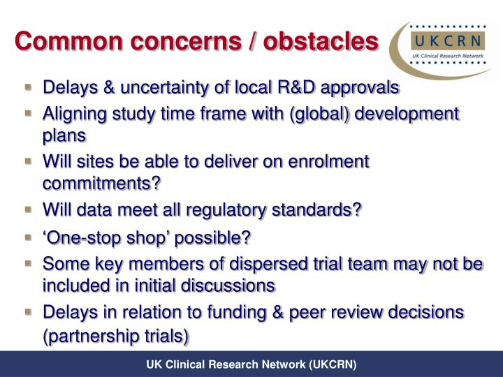 Common concerns / obstacles