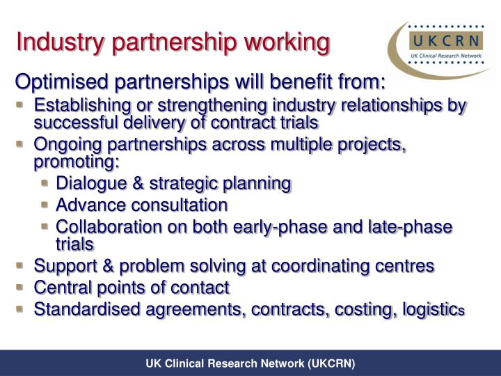 Industry partnership working