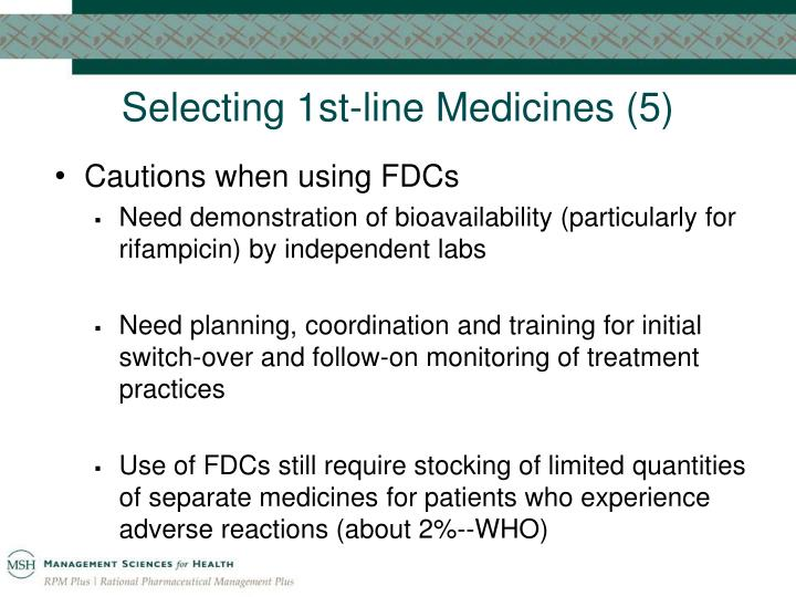 Selecting 1st-line Medicines (5)